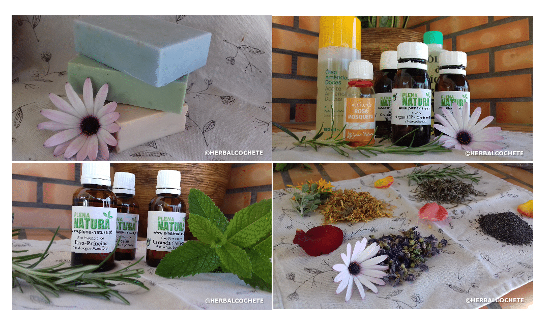 Soap ingredients, essential oils and soap bars