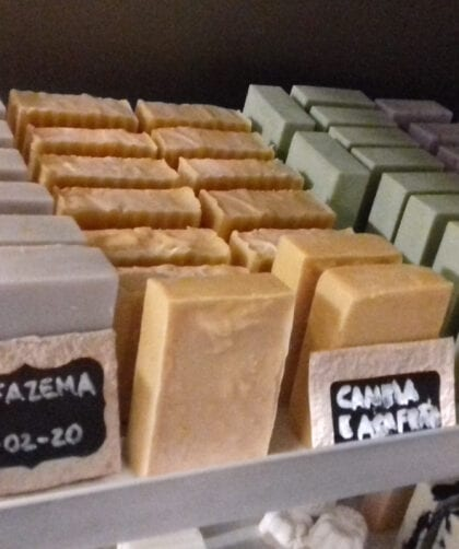 Curing soap in a dry and well vented place