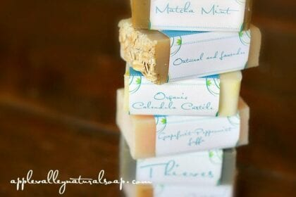 A pile of soap bars from Appley Valley